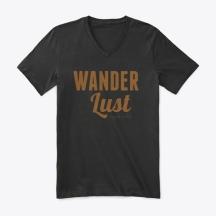 camiseta wanderlust cuello V